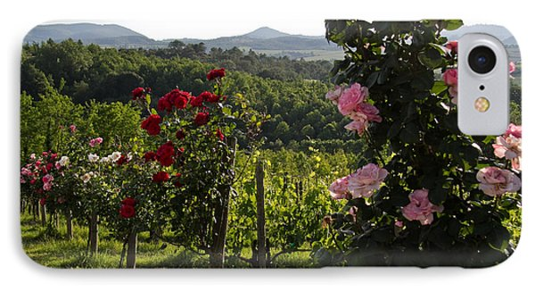 Wine And Roses IPhone Case by Roger Mullenhour