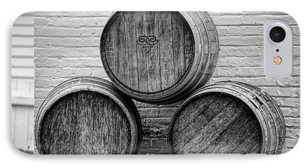 Wine Barrels At Mission Point Lighthouse Michigan IPhone Case
