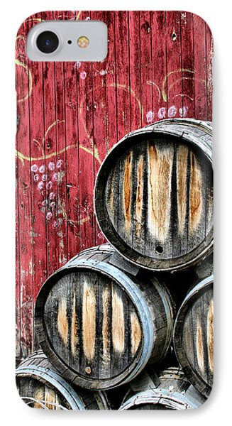 Wine Barrels IPhone 7 Case by Doug Hockman Photography