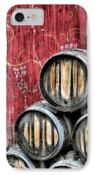Wine Barrels IPhone Case by Doug Hockman Photography