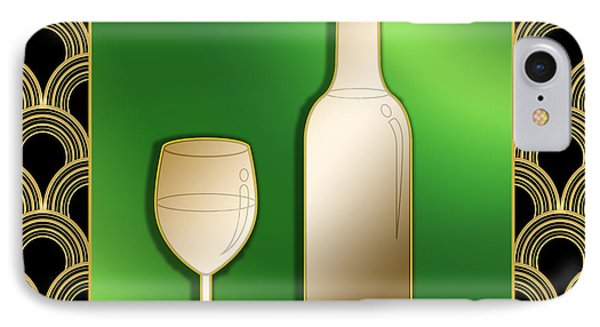IPhone Case featuring the digital art Wine Bottle And Glass - Chuck Staley by Chuck Staley