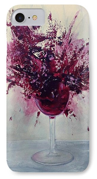 Wine Bouquet IPhone Case by T Fry-Green