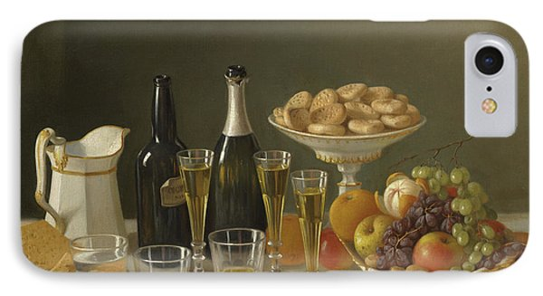 Wine, Cheese, And Fruit IPhone Case by John F Francis