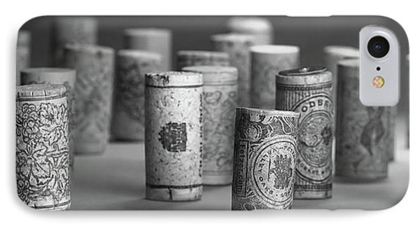 Wine Cork Panorama In Black And White IPhone Case by Tom Mc Nemar