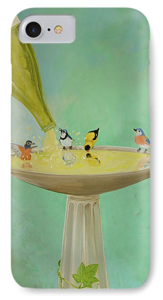 Wine Country Bird Bath IPhone Case