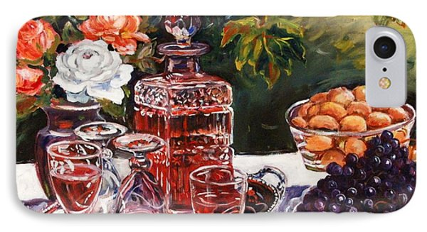 Wine Decanter Still Life IPhone Case by Alexandra Maria Ethlyn Cheshire