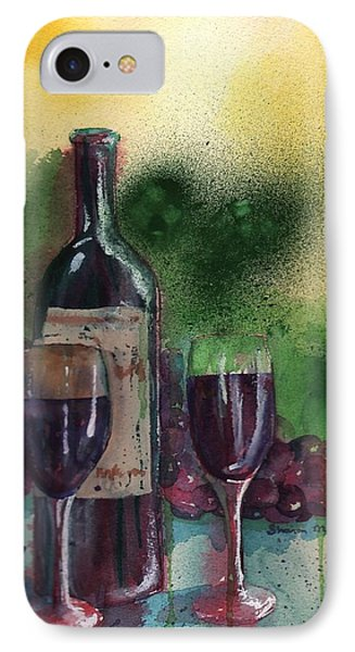Wine For Two IPhone Case by Sharon Mick