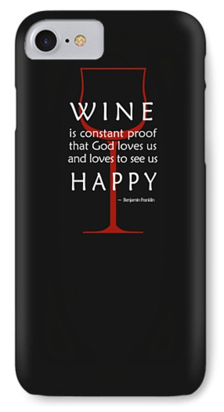 Wine Glasses 2 IPhone Case by Mark Rogan