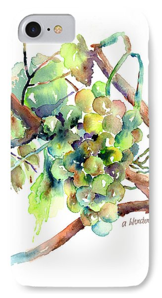 Wine Grapes Phone Case by Arline Wagner