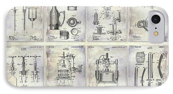 Wine History Patents IPhone Case by Jon Neidert