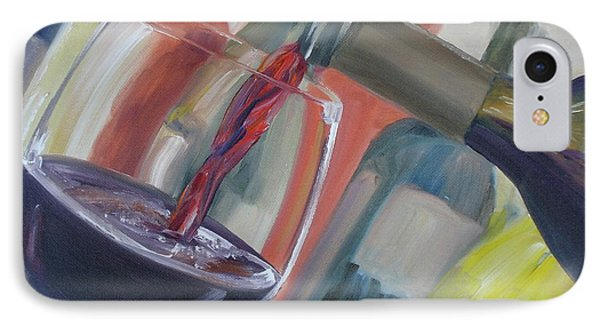 IPhone Case featuring the painting Wine Pour by Donna Tuten