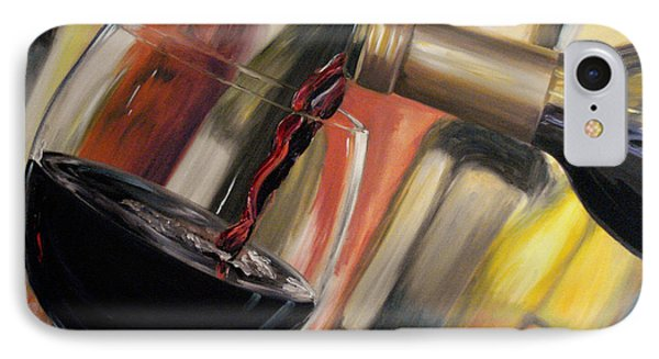 IPhone Case featuring the painting Wine Pour II by Donna Tuten