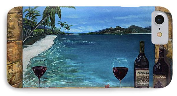 IPhone Case featuring the painting Wine Thirty - Oceanside by Jan Dappen