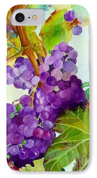 Wine Vine Phone Case by Karen Fleschler