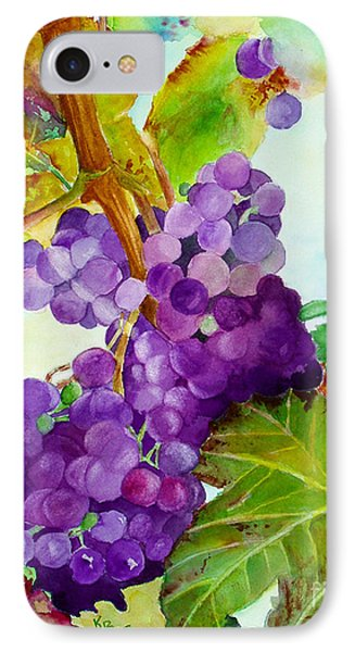 Wine Vine IPhone Case by Karen Fleschler