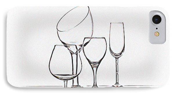 Wineglass Graphic IPhone 7 Case by Tom Mc Nemar