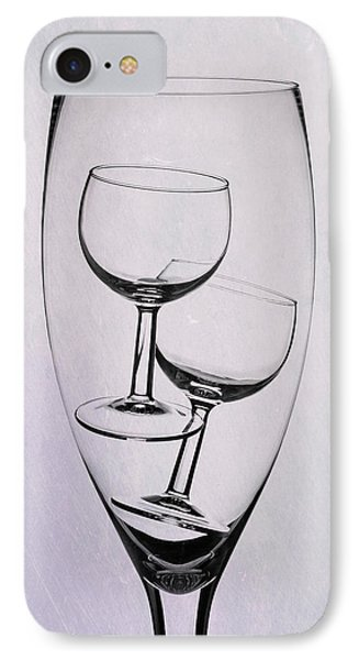 Wineglass Trio IPhone Case by Tom Mc Nemar