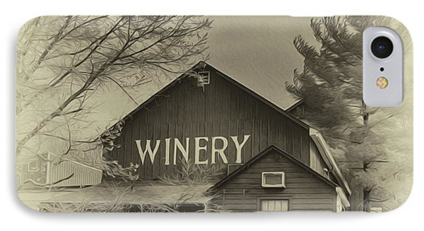 Winery In Sepia IPhone Case