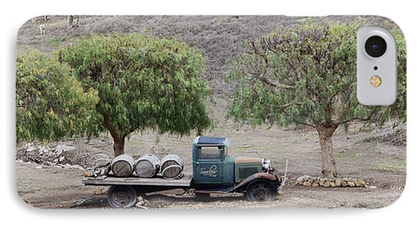 Winery Wine Barrels And Vintage Truck IPhone Case