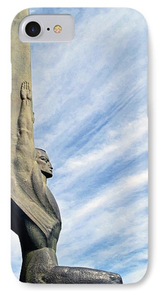 Winged Figure Of The Republic No. 1 IPhone Case