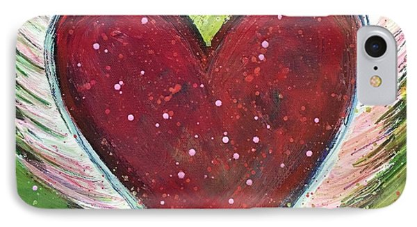 Winged Heart Number 1 Phone Case by Laurie Maves ART