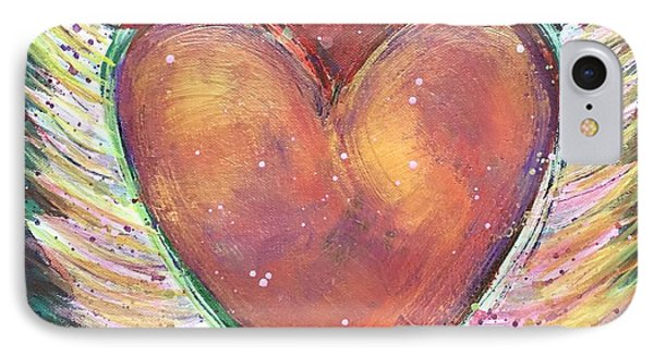 IPhone Case featuring the painting Winged Heart Number 2 by Laurie Maves ART