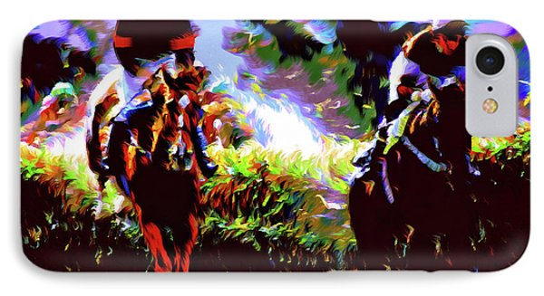 Winners Of The Horse Race Expressionism IPhone Case