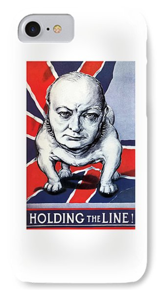Winston Churchill Holding The Line Phone Case by War Is Hell Store