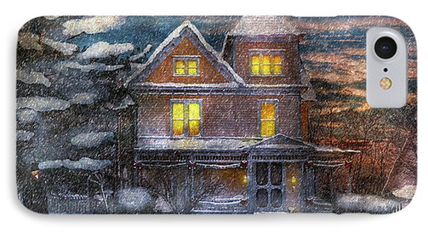 Winter - Clinton Nj - A Victorian Christmas  Phone Case by Mike Savad