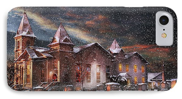 Winter - Clinton Nj - Silent Night  Phone Case by Mike Savad