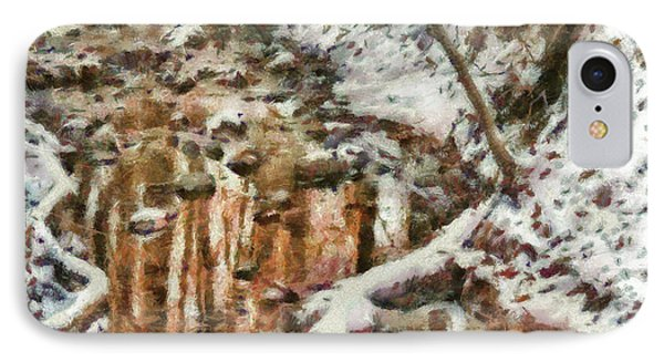 Winter - Natures Harmony Painted Phone Case by Mike Savad