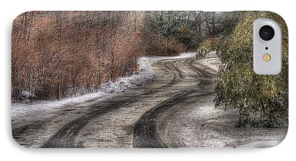 Winter - Road - The Hidden Road Phone Case by Mike Savad