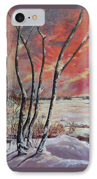 Winter Across The Lake  IPhone Case by Gail Allen