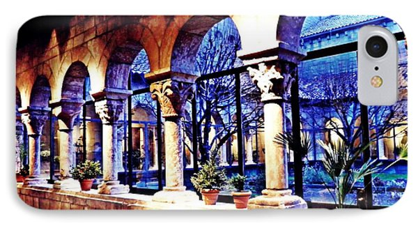 Winter Afternoon At The Cloisters 5 IPhone Case