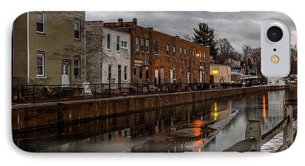 Winter Along The Canal IPhone Case by Everet Regal