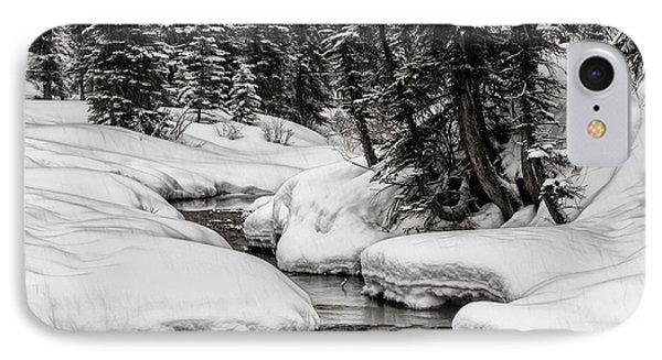 Winter Alpine Creek IPhone Case