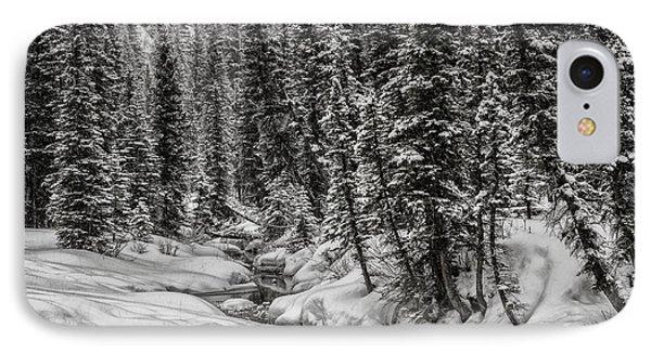 Winter Alpine Creek II IPhone Case by Brad Allen Fine Art
