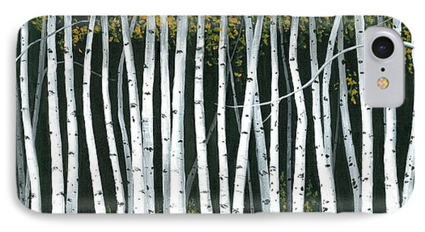 IPhone Case featuring the painting Winter Aspen 3 by Michael Swanson