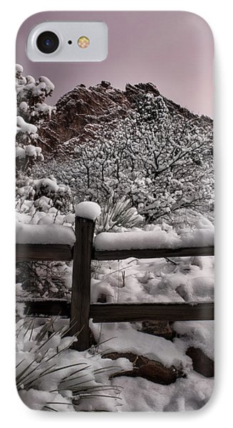 IPhone Case featuring the photograph Winter At Garden Of The Gods by Ellen Heaverlo