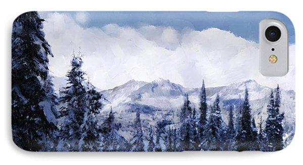 Winter At Revelstoke IPhone Case by Debra Baldwin