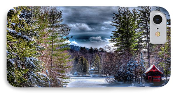IPhone 7 Case featuring the photograph Winter At The Boathouse by David Patterson