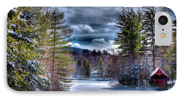 IPhone Case featuring the photograph Winter At The Boathouse by David Patterson