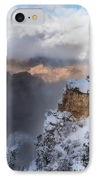 IPhone Case featuring the photograph Winter At The Grand  Canyon by Sandra Bronstein