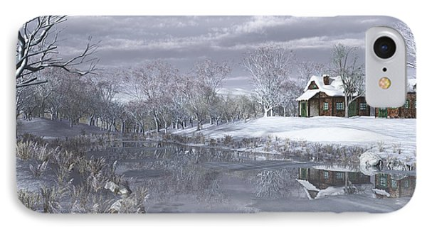 Winter At The Lake IPhone Case by Jayne Wilson