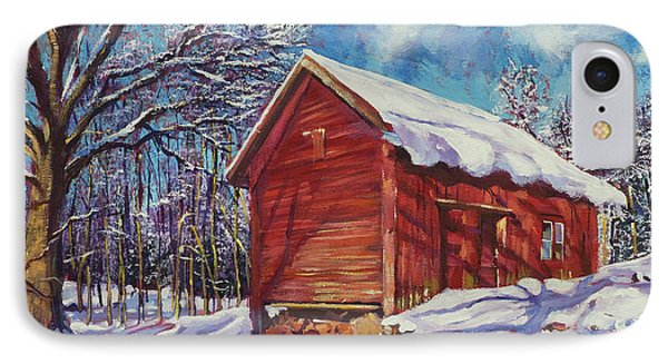 Winter At The Old Barn IPhone Case