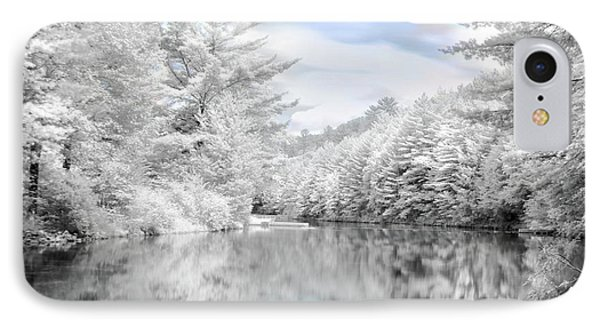 Winter At The Reservoir Phone Case by Lori Deiter