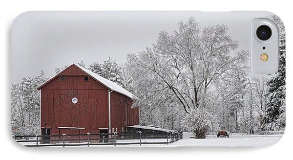 Winter Barn IPhone Case by Ann Bridges