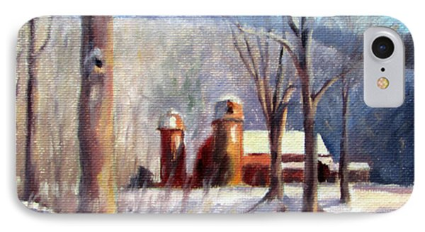 Winter Barn IPhone Case by Bonnie Mason
