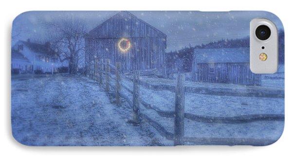 Winter Barn In Snow - Vermont IPhone Case by Joann Vitali