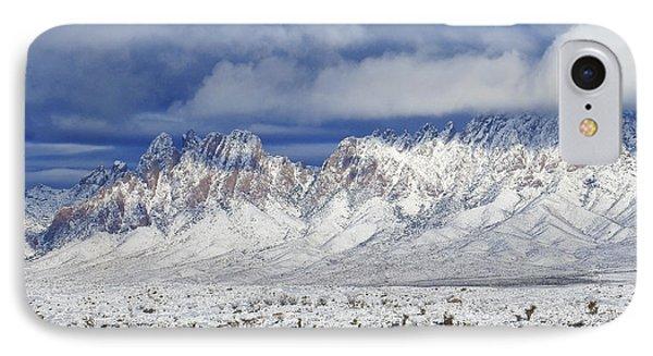 IPhone Case featuring the photograph Winter Beauties Organ Mountains by Kurt Van Wagner